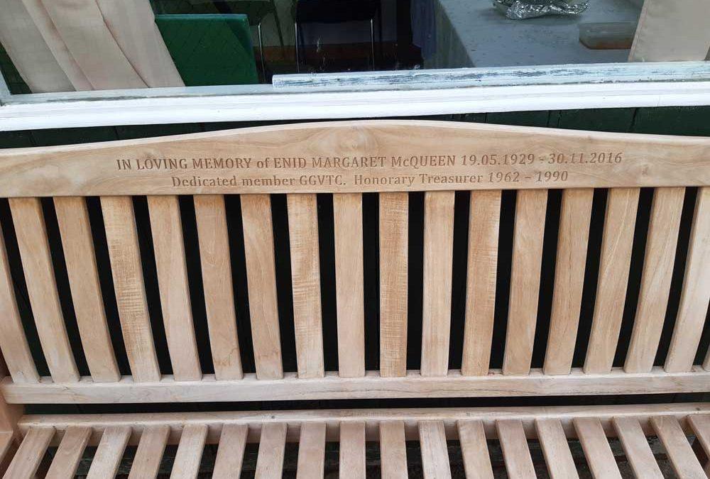 Enid McQueen's Commemorative Bench
